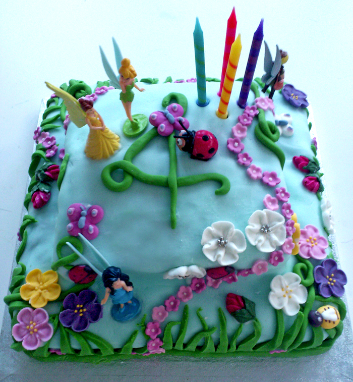 Disney Tinkerbell Birthday Cake For 4th Birthday Party Driftwood